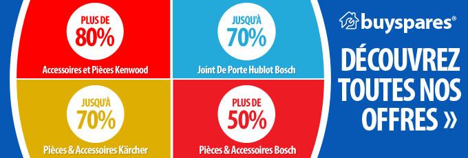Promotions, +70% sur les pièces détachées et accessoires Kärcher